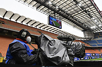 A cameraman at work during the Serie A football match between FC Internazionale and Cagliari Calcio at San Siro stadium in Milano (Italy), April 11th, 2021. Photo Andrea Staccioli / Insidefoto