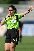 Center Referee Sandra Serafini.   Washington Freedom defeated FC. Gold Pride 3-1at the Maryland SoccerPlex, Sunday May 31, 2009.