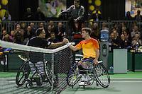 Rotterdam, The Netherlands, February 12, 2016,  ABNAMROWTT, Stephane Houdet (FRA), Gordon Reid (GBR)<br /> Photo: Tennisimages/Henk Koster