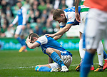 Celtic v St Johnstone …26.08.17… Celtic Park… SPFL<br />Steven MacLean holds his head after missing a second half chance to score<br />Picture by Graeme Hart.<br />Copyright Perthshire Picture Agency<br />Tel: 01738 623350  Mobile: 07990 594431