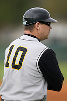 February 27, 2010:  Coach Jack Dahm of the Iowa Hawkeyes during the Big East/Big 10 Challenge at Raymond Naimoli Complex in St. Petersburg, FL.  Photo By Mike Janes/Four Seam Images