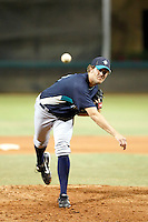 Tom Wilhelmsen - AZL Mariners - 2010 Arizona League. Wilhelmsen pitches in his first minor league game since returning to organized baseball after a long layoff; Wilhelmsen was originally a member of the Milwaukee Brewers organization before retiring from the game. Photo by:  Bill Mitchell/Four Seam Images..