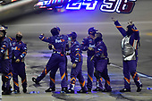 #11: Denny Hamlin, Joe Gibbs Racing, FedEx Office Toyota Camry crew celebrate their win