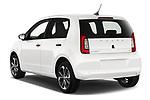 Car pictures of rear three quarter view of a 2020 Skoda Citigo e iV Ambition 5 Door Hatchback angular rear