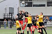 Rebecca Lake of Canterbury during the ISPS Handa Women's Premiership - Capital Football v Canterbury Utd Pride at Petone Memorial Park, Wellington on Saturday 5 December 2020.<br /> Copyright photo: Masanori Udagawa /  www.photosport.nz