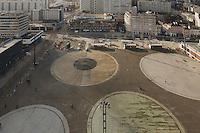 Prise de vue depuis le haut de la tour de la Securite Sociale