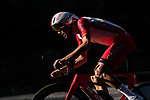 Cofidis in action during Stage 21 final stage of La Vuelta d'Espana 2021, an individual time trial running 33.8km from Padron to Santiago de Compostela, Spain. 5th September 2021.    <br /> Picture: Charly Lopez/Unipublic | Cyclefile<br /> <br /> All photos usage must carry mandatory copyright credit (© Cyclefile | Unipublic/Charly Lopez)