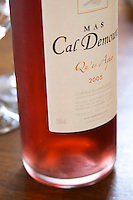 Cuvee Qu'es Aquo rose wine. Domaine Mas Cal Demoura, in Jonquieres village. Terrasses de Larzac. Languedoc. France. Europe. Bottle.