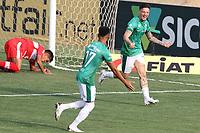 Campinas (SP), 10/10/2020 - Guarani-CRB - Lucas Crispim comemora primeiro gol do Guarani. Partida entre Guarani e CRB válida pela 15. rodada do Campeonato Brasileiro da Série B no estádio Brinco de Ouro em Campinas, interior de São Paulo, neste sábado (10).