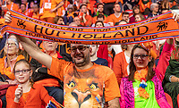The Hague, The Netherlands, Februari 8, 2020,    Sportcampus, FedCup  Netherlands -  Balarus, Seccond match on Saturday:  Dutch supporters<br /> Photo: Tennisimages/Henk Koster