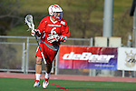 Baltimore, MD - March 3:  Attackmen Drew Federico #6 of the Fairfield Stags during the Fairfield v UMBC mens lacrosse game at UMBC Stadium on March 3, 2012 in Baltimore, MD.