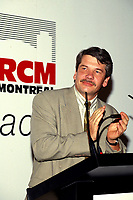 Montreal. CANADA -   1994  File Photo (Exact date unknow) -<br /> <br /> Jean Dore, Montreal Mayor and wife attend the 20th anniversary his party the RCM (Rassemblement des Citoyens de Montreal) at Bonsecour Market in Old-Montreal.<br /> <br /> File Photo : Agence Quebec Pressse - Pierre Roussel