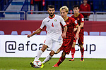 Baha' Abdelrahman of Jordan (L) fights for the ball with Nguyen Van Toan of Vietnam (R) during the AFC Asian Cup UAE 2019 Round of 16 match between Jordan (JOR) and Vietnam (VIE) at Al Maktoum Stadium on 20 January 2019 in Dubai, United Arab Emirates. Photo by Marcio Rodrigo Machado / Power Sport Images