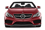 Car photography straight front view of a 2015 Mercedes Benz E Class AMG Line 2 Door Convertible 2WD Front View