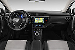 Stock photo of straight dashboard view of 2015 Toyota Auris Lounge 5 Door Hatchback Dashboard