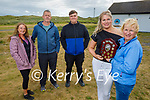 Diane Jeffers and Mary McElligott launched a new trophy in memory of Chris O'Shea who was a members of theSt  Brendans AC Ardfertwho are holding the Banna 10k & 5k run on August 8th. L to r: Kathleen and Johnny Jeffers, Ronan McElligott, Diane Jeffers and Mary McElligott.
