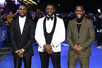 """Stephen Odubola, Rapman and Michael Ward<br /> arriving for the """"Blue Story"""" premiere at the Curzon Mayfair, London.<br /> <br /> ©Ash Knotek  D3534 14/11/2019"""