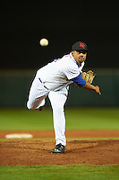 Scottsdale Scorpions pitcher Corey Taylor (44), of the New York Mets organization, during a game against the Glendale Desert Dogs on October 14, 2016 at Scottsdale Stadium in Scottsdale, Arizona.  Scottsdale defeated Glendale 8-7.  (Mike Janes/Four Seam Images)