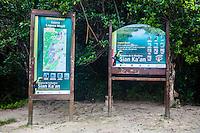 Sian Ka'an Biosphere Reserve Sign, Riviera Maya, Yucatan, Mexico.