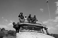 North Darfur, August 13, 2004.Janjaweed on the road.