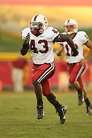 6 October 2007: Chijoke Amajoyi during Stanford's 24-23 win over the #1 ranked USC Trojans in the Los Angeles Coliseum in Los Angeles, CA.
