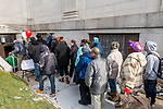 WATERBURY, CT. 21 December 2019-122119BS286 - People after waiting in the cold enter the Basilica of Immaculate Conception for a Christmas Party for the less fortunate and homeless in Waterbury on Saturday. Bill Shettle Republican-American