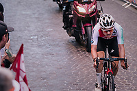 eventual winner Marc Hirschi (SUI)<br /> <br /> MEN UNDER 23 ROAD RACE<br /> Kufstein to Innsbruck: 180 km<br /> <br /> UCI 2018 Road World Championships<br /> Innsbruck - Tirol / Austria