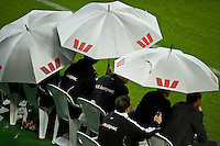 MELBOURNE, AUSTRALIA - NOVEMBER 27: The Melbourne Heart coaching bench during the round 16 A-League match between the Melbourne Heart and Sydney FC at AAMI Park on November 27, 2010 in Melbourne, Australia. (Photo by Sydney Low / Asterisk Images)