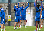 St Johnstone Training……26.08.20<br />Stevie May pictured with Scott Tanser, Tanto Olaofe and Craig Conway during training at McDiarmid Park ahead of Saturday's game against St Mirren.<br />Picture by Graeme Hart.<br />Copyright Perthshire Picture Agency<br />Tel: 01738 623350  Mobile: 07990 594431
