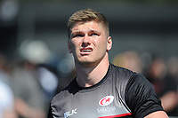 Owen Farrell of Saracens warms up before the Aviva Premiership Rugby semi final match between Saracens and Wasps at Allianz Park on Saturday 19th May 2018 (Photo by Rob Munro/Stewart Communications)