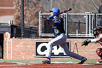 ELON, NC - MARCH 1: Kyle Harbison #13 of Indiana State University hits a pitch during a game between Indiana State and Elon at Walter C. Latham Park on March 1, 2020 in Elon, North Carolina.