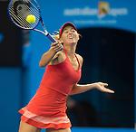 Maria Sharapova (RUS) defeats Zarina Diyas (KAZ), 6-1, 6-1