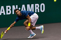 Rotterdam, The Netherlands, 28 Februari 2021, ABNAMRO World Tennis Tournament, Ahoy, First round match: Felix Auger-Aliassime (CAN).<br /> Photo: www.tennisimages.com/henkkoster