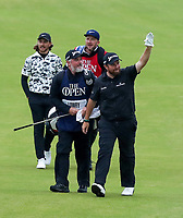 210719 | The 148th Open - Final Round<br /> <br /> Shane Lowry of Ireland and his caddie Bo Martin on the 18th during the final round of the 148th Open Championship at Royal Portrush Golf Club, County Antrim, Northern Ireland. Photo by John Dickson - DICKSONDIGITAL