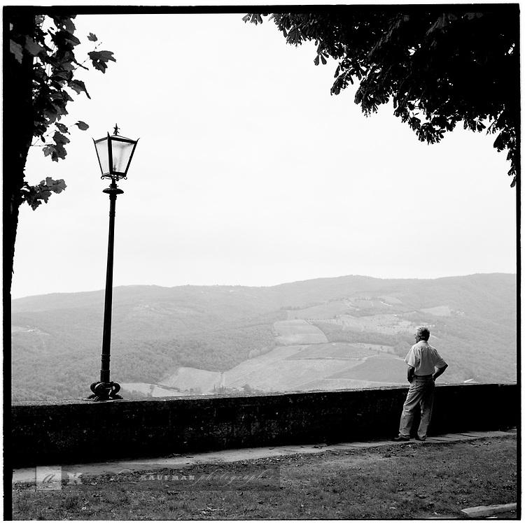 The Tuscan hillside. Europe before the euro.
