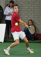 Rotterdam, Netherlands, Januari 24, 2016,  ABNAMROWTT Supermatch, Lennert van den Hurk (NED)<br /> Photo: Tennisimages/Henk Koster