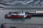 "U.S. Coast Guard ice breaker WAGB-20, ""Healy"" docked in Seward, Alaska."
