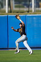 Bethune-Cookman Wildcats right fielder Nathan Bond (21) during practice before a game against the Wisconsin-Milwaukee Panthers on February 26, 2016 at Chain of Lakes Stadium in Winter Haven, Florida.  Wisconsin-Milwaukee defeated Bethune-Cookman 11-0.  (Mike Janes/Four Seam Images)