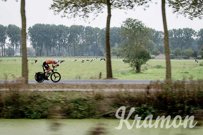 Daan Hoole (NED/SEG Racing)<br /> <br /> World Championships U23 Men - ITT <br /> Time Trial from Knokke-Heist to Bruges (30.3km)<br /> <br /> UCI Road World Championships - Flanders Belgium 2021<br /> <br /> ©kramon