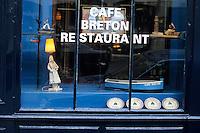 """Europe/France/Bretagne/35/ Ille et Vilaine/ Rennes: détail de la décoration du café restaurant """"le Café Breton"""" 14 rue Nantaise"""