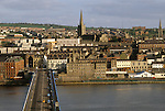Derry Londonderry 1980s River Foyle Northern Ireland