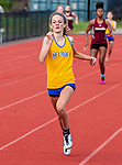 OXFORD, CT 050421JS16—Seymour's Zoie Kempf took first place in the 400 meter run during their NVL track meet with Oxford and Sacred Heart Tuesday at Oxford High School. <br /> Jim Shannon Republican American