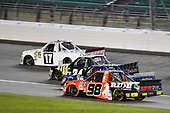 NASCAR Camping World Truck Series<br /> Toyota Tundra 250<br /> Kansas Speedway, Kansas City, KS USA<br /> Friday 12 May 2017<br /> Timothy Peters, Red Horse Racing Toyota Tundra, Justin Haley, Fraternal Order of Eagles Chevrolet Silverado and Grant Enfinger, Ride TV Toyota Tundra<br /> World Copyright: Nigel Kinrade<br /> LAT Images<br /> ref: Digital Image 17KAN1nk07273