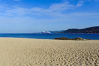 Strand von Propriano, Korsika, Frankreich