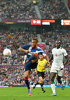 July 26, 2012..Britain's Ryan Bertrand (3) and Senegal's Zargo Toure (6). Great Britain vs Senegal Football match during 2012 Olympic Games at Old Trafford in Manchester, England. Senegal held Great Britain to a 1-1 draw...(Credit Image: © Mo Khursheed/TFV Media)