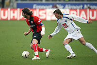 Ioannis Amanatidis (Eintracht) im Zweikampf<br /> Eintracht Frankfurt vs. VfL Bochum, Commerzbank Arena<br /> *** Local Caption *** Foto ist honorarpflichtig! zzgl. gesetzl. MwSt. Auf Anfrage in hoeherer Qualitaet/Aufloesung. Belegexemplar an: Marc Schueler, Am Ziegelfalltor 4, 64625 Bensheim, Tel. +49 (0) 6251 86 96 134, www.gameday-mediaservices.de. Email: marc.schueler@gameday-mediaservices.de, Bankverbindung: Volksbank Bergstrasse, Kto.: 151297, BLZ: 50960101