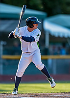 29 August 2019: Vermont Lake Monsters outfielder Josh Watson in action during a game against the Connecticut Tigers at Centennial Field in Burlington, Vermont. The Lake Monsters fell to the Tigers 6-2 in the first game of their NY Penn League double-header.  Mandatory Credit: Ed Wolfstein Photo *** RAW (NEF) Image File Available ***