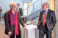 Klaus-Dieter Fritsche, Staatssekretaer im Bundeskanzleramt und Beauftragter fuer die Nachrichtendienste des Bundes (rechts im Bild) war am Montag den 13. Februar 2017 als Zeuge bei der 130. Sitzung des NSA-Untersuchungsausschuss des Deutschen Bundestag geladen.<br /> Hier unterhaelt er sich in einer Sitzungsunterbrechung mit Christian Stroebele (B90/Gruene), Mitglied im Untersuchungsausschuss.<br /> 13.2.2017, Berlin<br /> Copyright: Christian-Ditsch.de<br /> [Inhaltsveraendernde Manipulation des Fotos nur nach ausdruecklicher Genehmigung des Fotografen. Vereinbarungen ueber Abtretung von Persoenlichkeitsrechten/Model Release der abgebildeten Person/Personen liegen nicht vor. NO MODEL RELEASE! Nur fuer Redaktionelle Zwecke. Don't publish without copyright Christian-Ditsch.de, Veroeffentlichung nur mit Fotografennennung, sowie gegen Honorar, MwSt. und Beleg. Konto: I N G - D i B a, IBAN DE58500105175400192269, BIC INGDDEFFXXX, Kontakt: post@christian-ditsch.de<br /> Bei der Bearbeitung der Dateiinformationen darf die Urheberkennzeichnung in den EXIF- und  IPTC-Daten nicht entfernt werden, diese sind in digitalen Medien nach §95c UrhG rechtlich geschuetzt. Der Urhebervermerk wird gemaess §13 UrhG verlangt.]