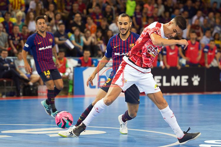 League LNFS 2018/2019.<br /> PlayOff Final. 1er. partido.<br /> FC Barcelona Lassa vs El Pozo Murcia: 7-2.<br /> Boyis vs Pito.