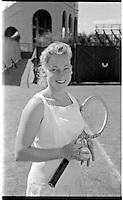 Darlene Hard, U.S. Women's Nationals, West Side Tennis Club, Forest Hills, NY. 1956 Photo by John G. Zimmerman.